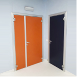 porta blindada de proteção radiológica